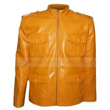 clark chester camel brown leather jacket