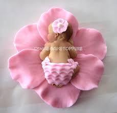 Fondant Baby Flower Cake Topper Fondant Babies Baby Cake Topper