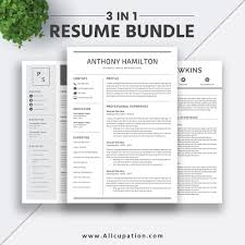 2019 Best Selling Resume Bundle The Anthony Rb Professional Simple Resume Template Word Cv Bundle Cover Letter Creative Resume Design Instant