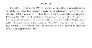 How to write an abstract for a paper sample