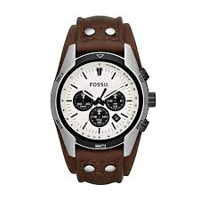 fossil coachman men s brown leather strap watch h samuel fossil coachman men s brown leather strap watch product number 1411667