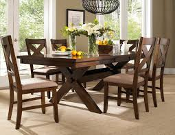 dining table with 6 chairs com roundhill furniture karven 7 piece solid