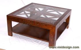 glass wood coffee table the combination of classicodern accents in dark wood and