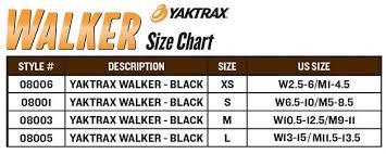 Yaktrax Pro Size Chart Yaktrax Size Chart Inspirational Yaktrax Walker Traction