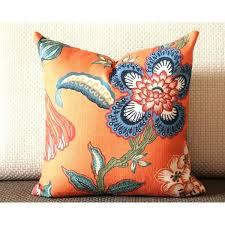 orange throw white blue pillow flowers cover in spark peacock flower rug australia orange throw