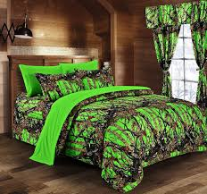 Lovely Image Of: Camo Green Comforter Sets