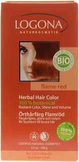Logona Hair Dye Color Chart Logona Herbal Hair Colour Powder Flame Red Special
