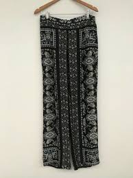 Details about Massimo Dutti <b>Mulberry Silk Pants</b> Full Length Floral ...