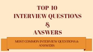 Job Interview Questions Answers Best Answer For Freshers And