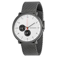 skagen skw6188 hald white sunblast dial stainless watch