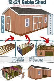 12x24 shed plans free diy plans