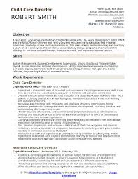 Day Care Experience On Resume Child Care Director Resume Samples Qwikresume