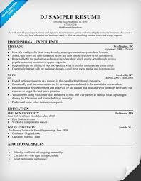 Audio Specialist Sample Resume Fascinating Disc Jockey Resume Resumecompanion Resume Samples Across All