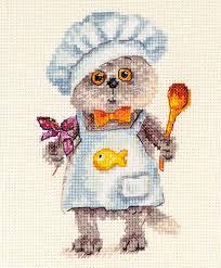 """<b>Набор для вышивания</b> """"<b>Алиса</b>"""" 0-182 """"Басик шеф повар"""" 10 х 14 ..."""