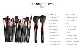 maange 22pcs foundation blush eye shadow lip makeup brushes cosmetic tools