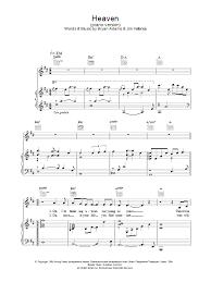 heaven piano sheet music heaven piano version sheet music direct