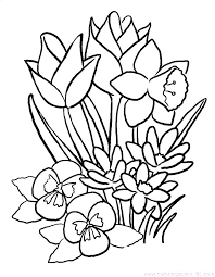 Kids Coloring Pages Flowers Coloring Pages Of Spring Flowers Free