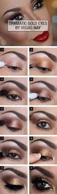 gold smokey eye makeuptutorial