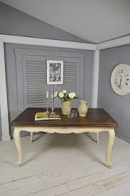this stunning carved vine french table extends to to seat up to 10 people we ve painted in little greene shirting lightly distressed and heavily aged