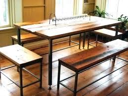 metal top farmhouse table farm table with metal legs wood table with metal legs custom dining