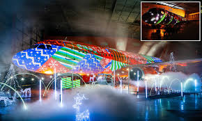 The Worlds Biggest Christmas Lights Show On A Plane
