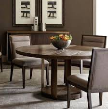 brown dining table profile round furniture dark with grey chairs light set