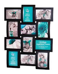 black multi aperture photo frame