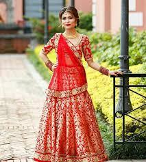 Lehenga Design In Nepal Nepali Wedding Tradition Nepal Marriage Bride Makeup