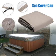 240 240 25cm silver hot tub spa cover cap waterproof lightweight bag durable protective