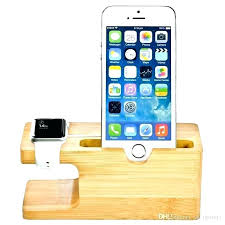 wooden phone charging station bamboo wood stand 1 bracket docking cradle holder w business cell stations cell charging station