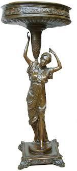 toperkin lady vase bronze statues