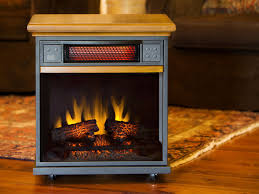 spencer 20 in 1 000 sq ft oak portable fireplace infrared heater 20if100gra o107
