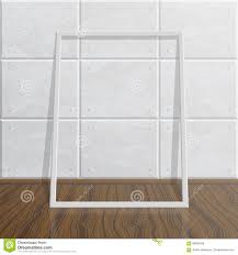 realistic blank mock up frame on concrete wall