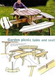 round picnic table plans circular picnic table plans outdoor furniture plans projects picnic table plans using