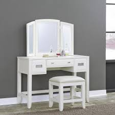 image of white makeup desk styles