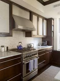 modern kitchen rugs. Modern Kitchen With Floor To Ceiling Espresso Cabinets Gray Inset Door Panels. Rugs