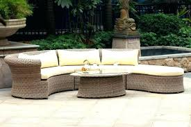 circular outdoor seating semi circle patio furniture incredible wicker table set throughout 7 circular outdoor seating