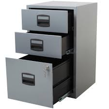 file cabinet png. 3 Drawer LOCKING A4 Filing Cabinet PFA3 SILVER WHITE File Png .