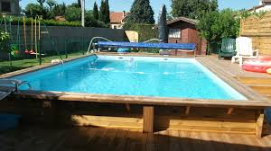 Piscine Ronde Semi Enterre Fabulous Piscine Hors Sol En Bois With