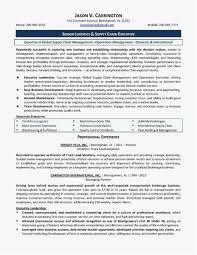 Procurement Resume 2018 Unique Resume For Highschool Students