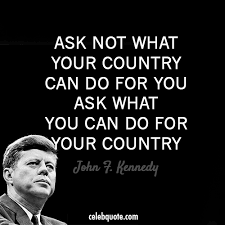 Usa Quotes Awesome John F Kennedy Quote About USA Sacrifice Country Contribute