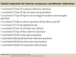 top  human resources coordinator cover letter samples       useful materials for human resources