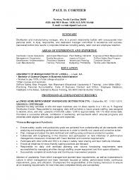 Manufacturing Supervisor Resume Unique Production Manager Lovely