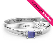 infinity mothers ring. princess stone and accent mother\u0027s ring infinity mothers o