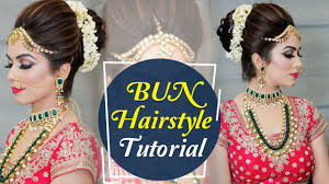 bun hairstyle tutorial step by step indian bridal hairstyle tutorial video krushhh by konica