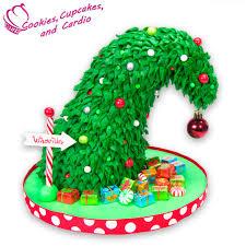 Grinch Christmas Cake. Grinch Christmas Tree Cake