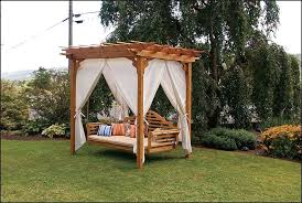 Canopy Swing Outdoor Bed Design — Meaningful Use Home Designs