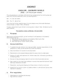 Classy Resume For Cashier At Restaurant About Restaurant Cashier Job