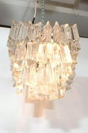 glass prism chandelier modern