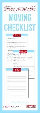Free Printable Moving Checklist Free Printable Moving Checklist I Heart Nap Time